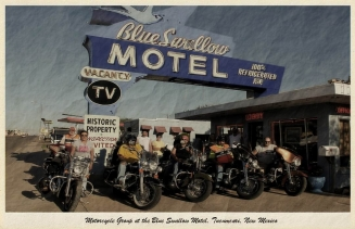Motorcycle Group Postcard
